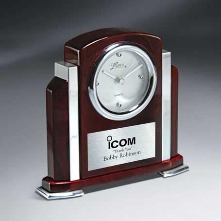 CM203 - Rosewood Piano Finish and Aluminum Clock