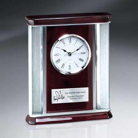 CM206 - Rosewood Piano Finish Desk Clock