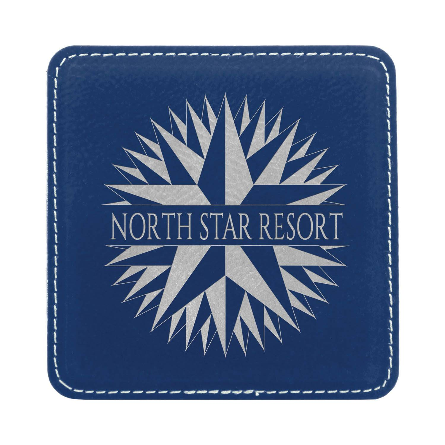 CM241BV - Leatherette Square Coaster