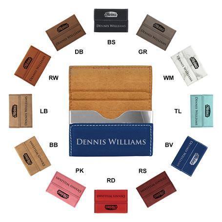 CM243* - Leatherette Hard Business Card Case