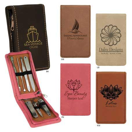 CM293* - 7-Piece Leatherette Manicure Gift Set