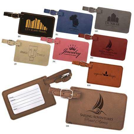CM295* - Leatherette Luggage Tag