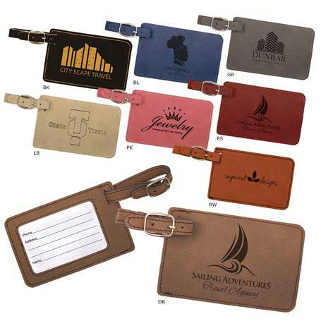 CM295* - Leatherette Luggage Tag
