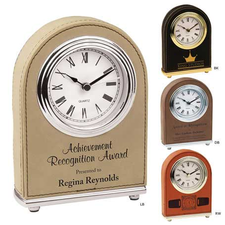 CM298* - Leatherette Dome Clock