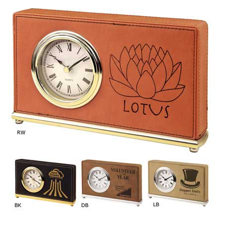 CM299* - Leatherette Rectangle Clock