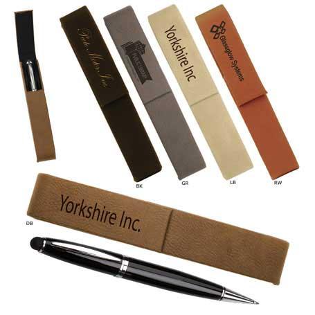 CM300* - Leatherette Single Pen Case with 1 Blank Pen