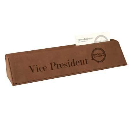 CM351DB - Leatherette Name Bar W/Business Card Holder
