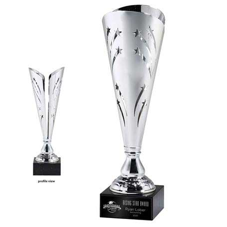 CM400B - Silver Star Cutout Trophy Cup - Medium