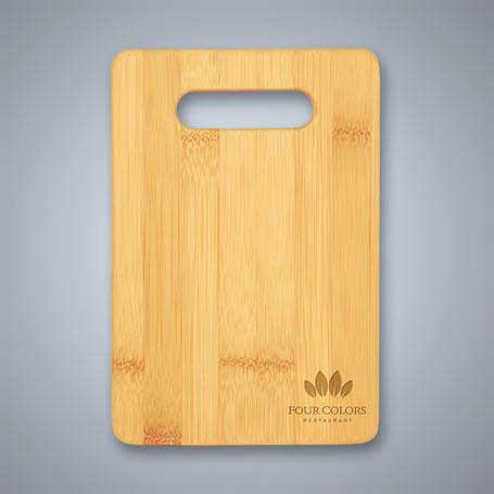 CM417A - Bamboo Cutting Board with Handle Cutout - Small