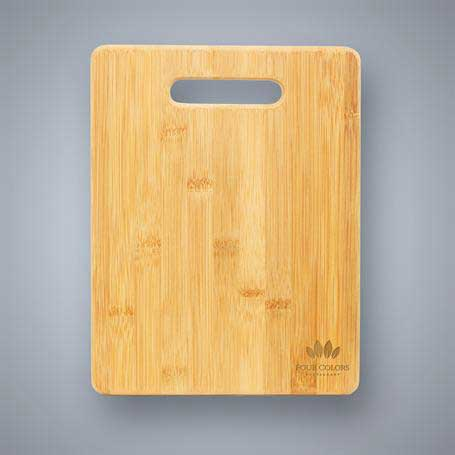 CM417B - Bamboo Cutting Board with Handle Cutout - Large