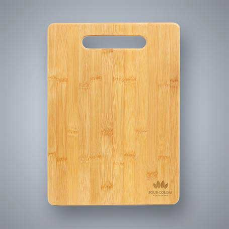 CM418 - Bamboo Cutting Board with Handle Cutout - Bar Size