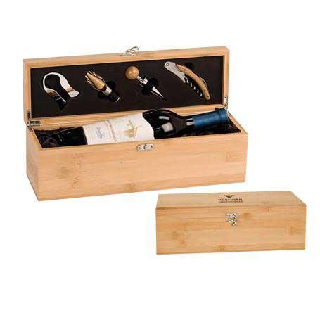 CM460 - Bamboo Wine Presentation Box with Tools