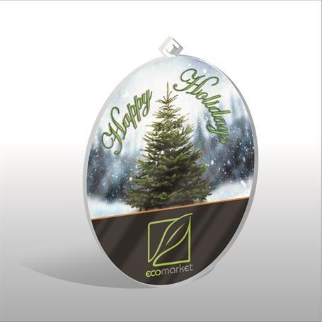 CM742 - Oval Acrylic Ornament