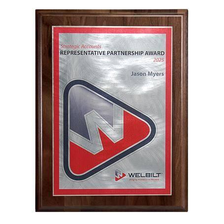 DCCD520EWN - Choice of Digi-Color Plate on Genuine Walnut Board