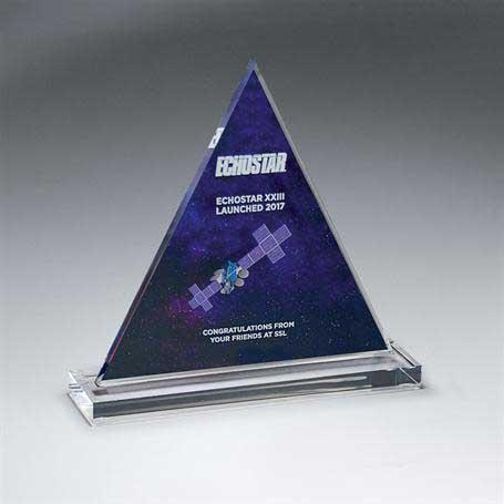 DCCD942B - Clear Acrylic Triangle on Clear Base