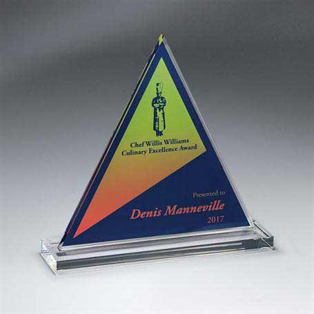 DCCD942C - Clear Acrylic Triangle on Clear Base