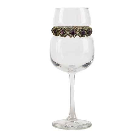 BFWAP - Blank Footed Wine Glass Antique Purple Bracelet