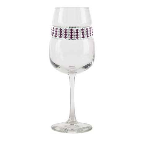 BFWAT - Blank Footed Wine Glass Amethyst Bracelet