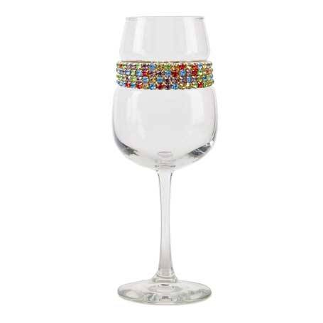 BFWCF - Footed Wine Glass Confetti Bracelet