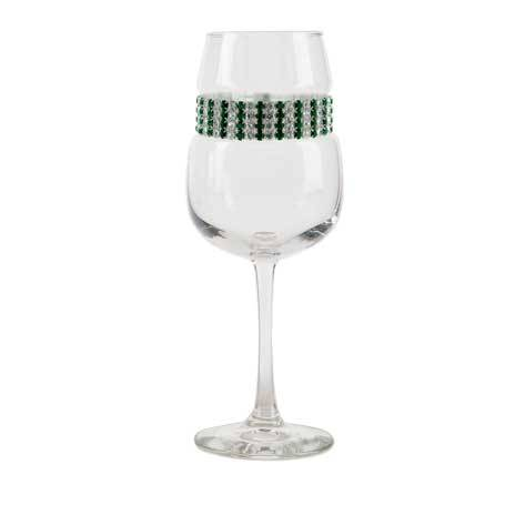 BFWEM - Blank Footed Wine Glass Emerald Bracelet