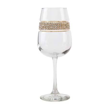 BFWGL - Footed Wine Glass Gold Bracelet