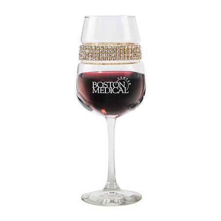 FWGL - Footed Wine Glass Gold Bracelet