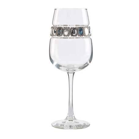 BFWGM - Footed Wine Glass Gemstone Bracelet