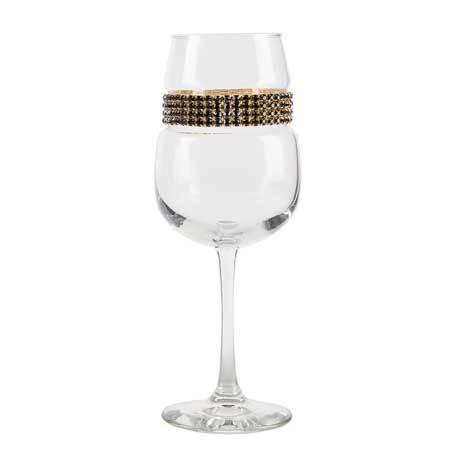 BFWGR - Blank Footed Wine Glass Raven Gold Bracelet