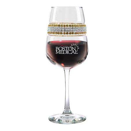 FWGS - Footed Wine Glass 24 Karat (Gold/Silver) Bracelet