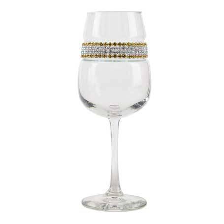 BFWGS - Footed Wine Glass 24 Karat (Gold/Silver) Bracelet