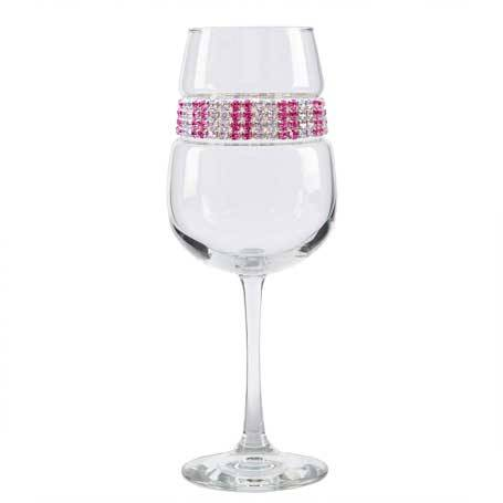 BFWPI - Blank Footed Wine Glass Pink Ice Bracelet