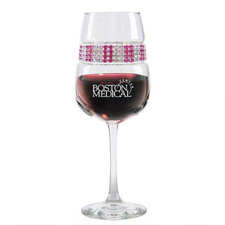 FWPI - Footed Wine Glass Pink Ice Bracelet