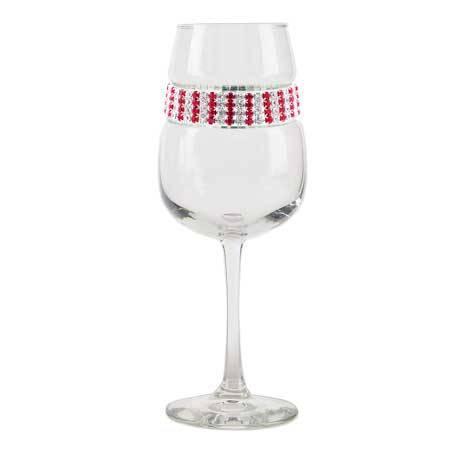 BFWRB - Footed Wine Glass Ruby Bracelet