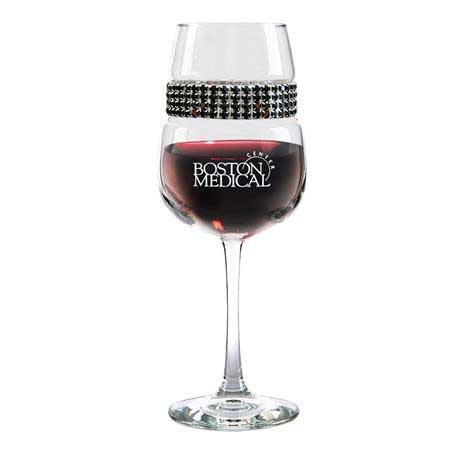 FWRS - Footed Wine Glass Raven Silver Bracelet