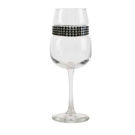 BFWRS - Blank Footed Wine Glass Raven Silver Bracelet