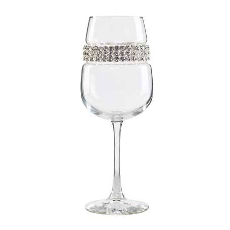 BFWSL - Blank Footed Wine Glass Silver Bracelet