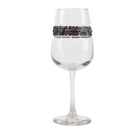 BFWVS - Blank Footed Wine Glass Vintage Silver Bracelet