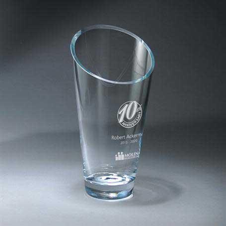 G0500B - Slant Top Vase - Medium