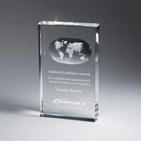 G0502 - Optic Crystal Globe Tablet