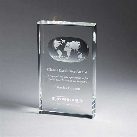 G0502 - Optic Crystal Globe Tablet