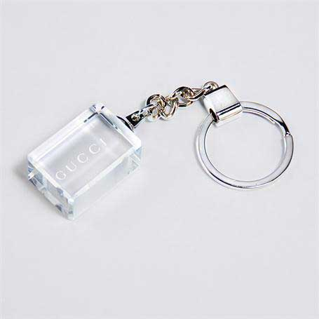 G0978 - Clear Rectangle Keychain