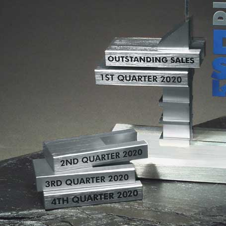 GBAR - Optional Aluminum Achievement Bar  (Includes FREE 1-Color Screen Text Set-up)