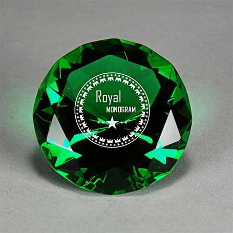 GI06G - Full-Cut Glass Gemstone (Includes Silver Color-Fill)