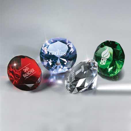 GI06* - Full-Cut Glass Gemstone(Includes Silver Color-Fill)