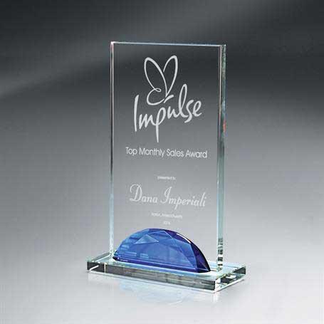 GI513B* - Optic Crystal Gemstone Award - Medium