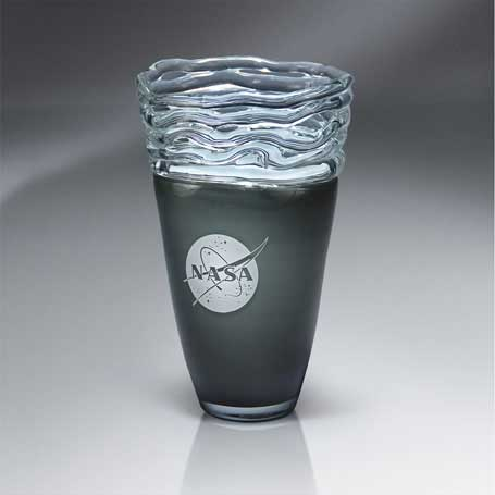 GI568 - Distinctive Glass-Glazed Vase  (Includes Silver Color-Fill)