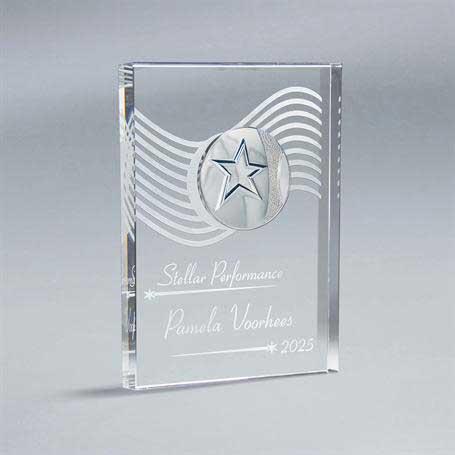 GI584BM* - Crystal Tablet with Choice of Medallion
