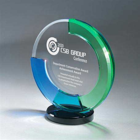 GI600A - Circle of Excellence 3 Glass Tiers on Base - Small