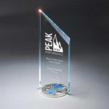 GI605 - Tower Glass on Medallion Base