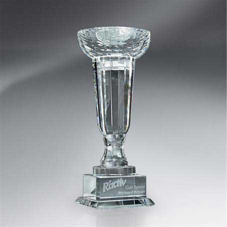 GM405A - Crystal Cup-Shaped Trophy - Small